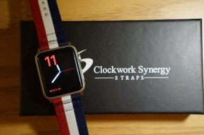 Review of the Red White and Blue NATO Apple Watch Band from Clockwork Synergy