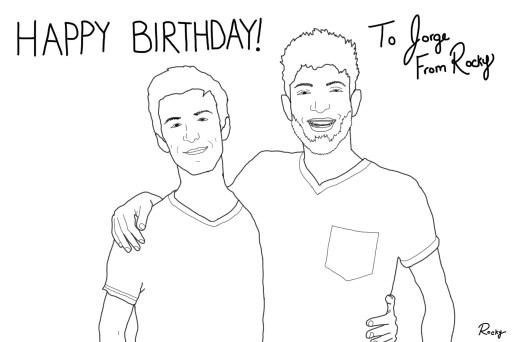A Drawing to Celebrate My Boyfriend's Birthday