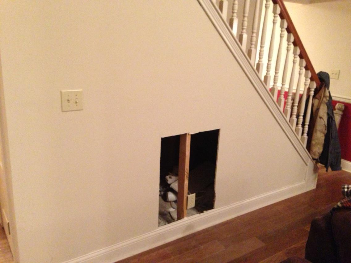 DIY dog house under the stairs tutorial   The Rodimels ...