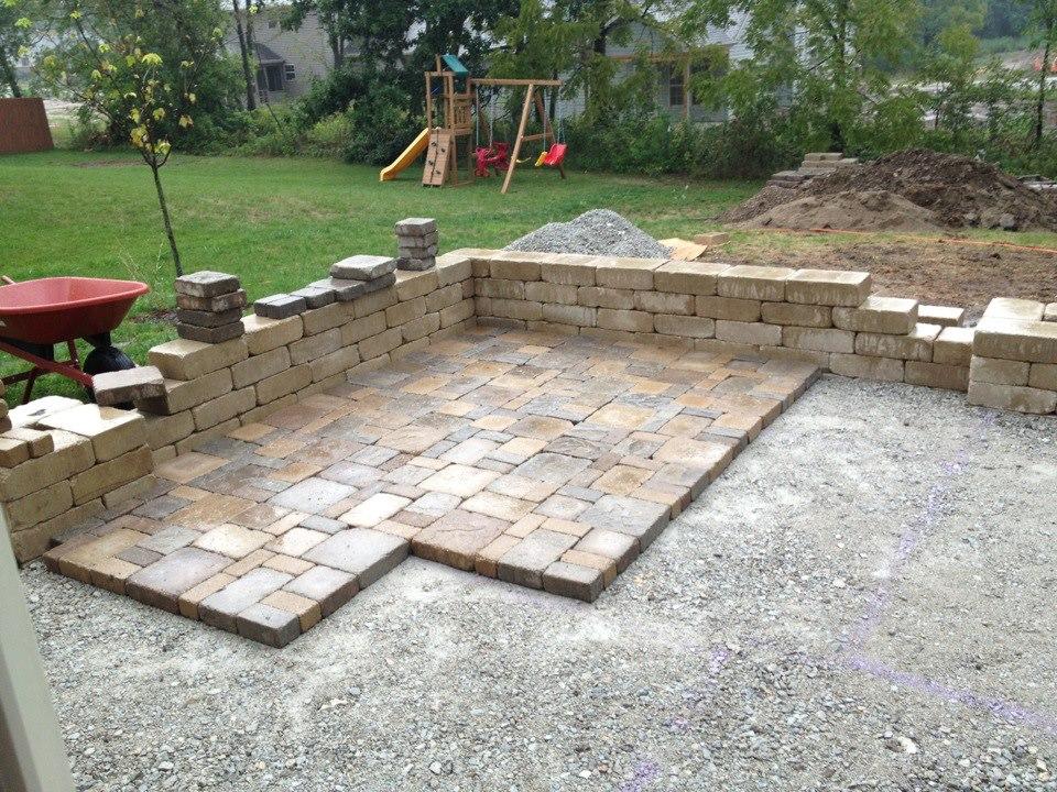 DIY backyard paver patio outdoor oasis tutorial | The ... on Build Backyard Patio id=37040