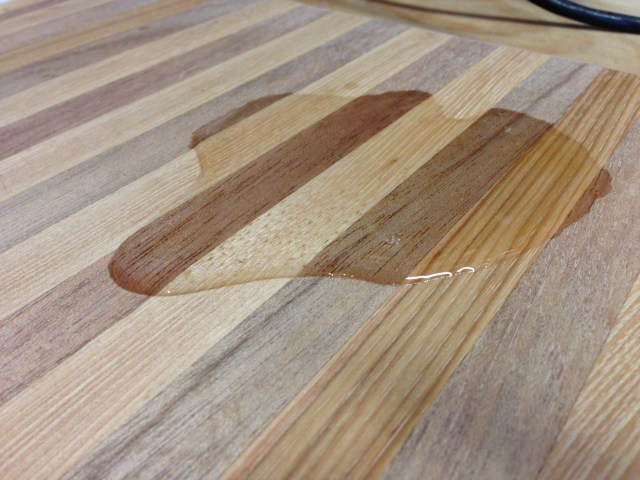 DIY cutting board butcher block oil