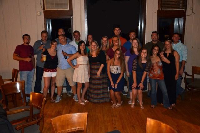 Five year class reunion group shot