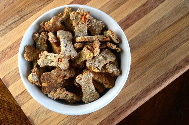 Homemade Apple Carrot Dog Treats
