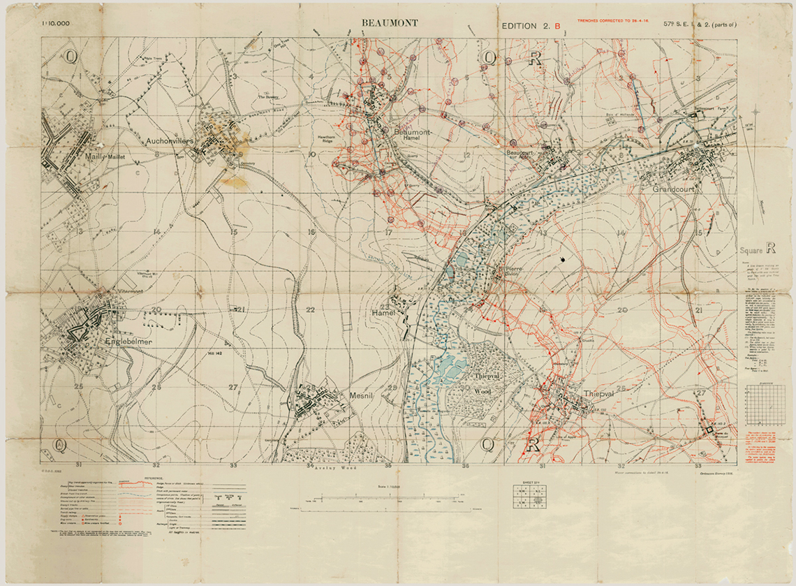The Trail of the Caribou in Trench Maps   The Rooms The Trail of the Caribou in Trench Maps
