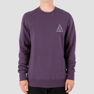 Sudadera Huf Essentials TT Crew Purple/Velvet