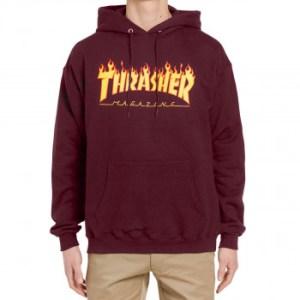 Sudadera Thrasher Flame Logo Maroon