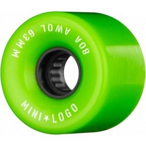 Ruedas Minilogo 63mm AWOL 80A Green