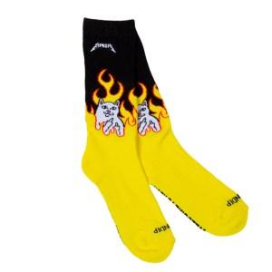 Calcetines Rip N Dip Welcome To Heck Socks (Black / Yellow)