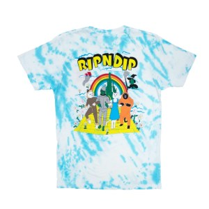 Camiseta Rip N Dip No Place Like Home Tee (Blue Stripe Tie Dye)