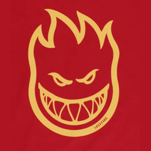 Camiseta Spitfire Bighead Cardinal/Orange