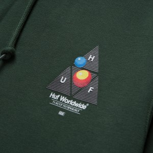 Sudadera Capucha Huf Video Format TT  Dark Green