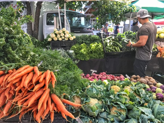 Farmers Market on Saturday mornings in Downtown New Braunfels Texas