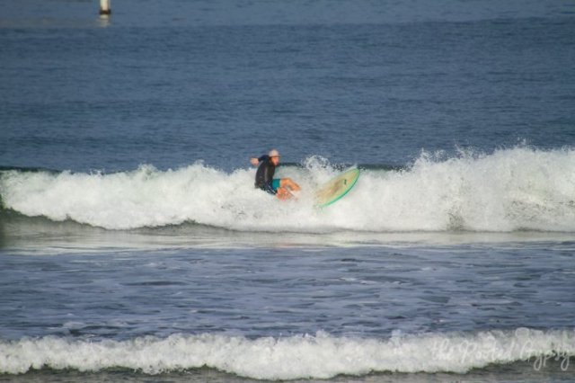 Surfing in San Diego California