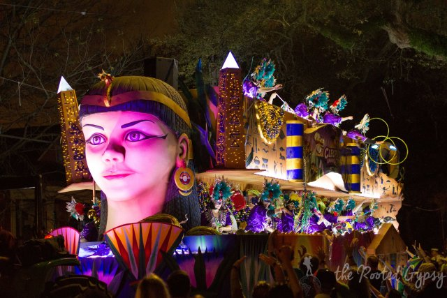 Cleopatra Float Mardi Gras Parade New Orleans Louisiana