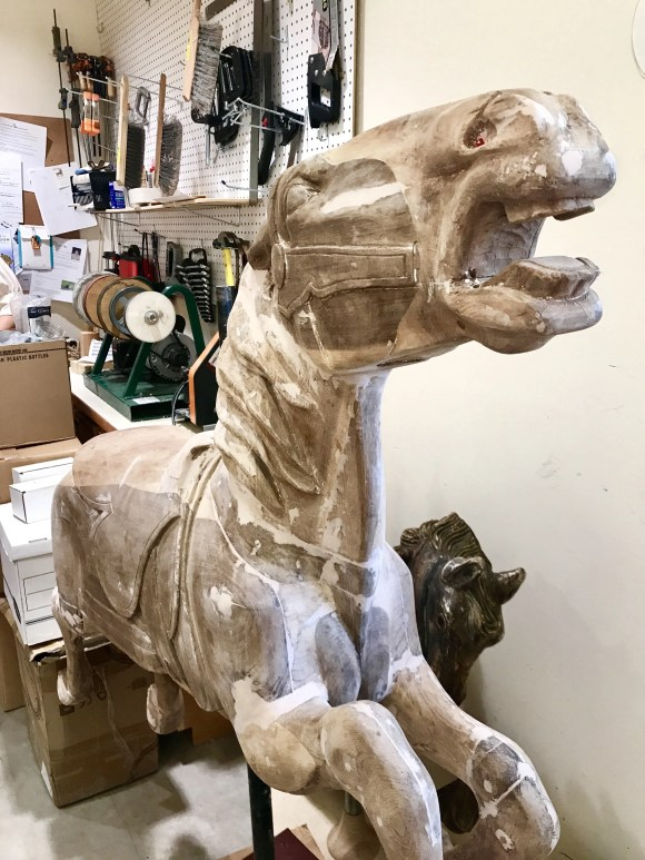 The making a carousel horse Missoula Montana