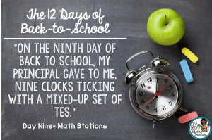 The 12 Days of Back to School: Day Nine- Nine Clocks Ticking