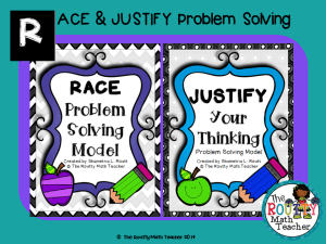 "Read about ""RACE & JUSTIFY Problem Solving"" here!"
