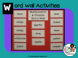 "Read about ""Word Wall Activities"" here!"