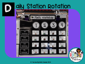 "Read about ""Daily Station Rotation"" here!"