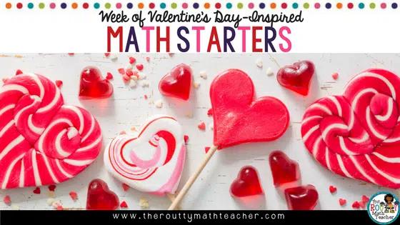 Week of Valentine-Inspired Math Starters