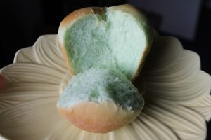 A traditional clover-leaf roll...except it's green!