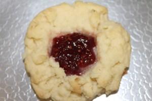 With raspberry jam.