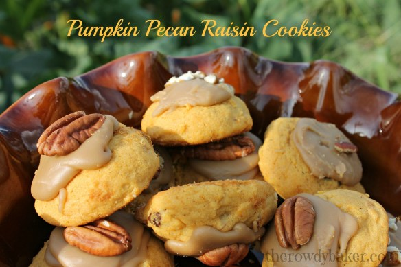 pumpkin pecan raisin cookies watermark