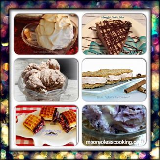 frozen desserts collage
