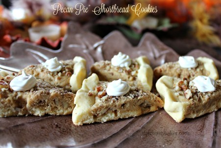 Pecan Pie Shortbread Cookies - The Rowdy Baker