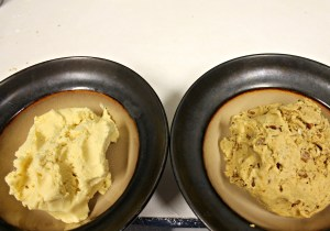 """Crust"" on the left, ""Filling"" on the right."