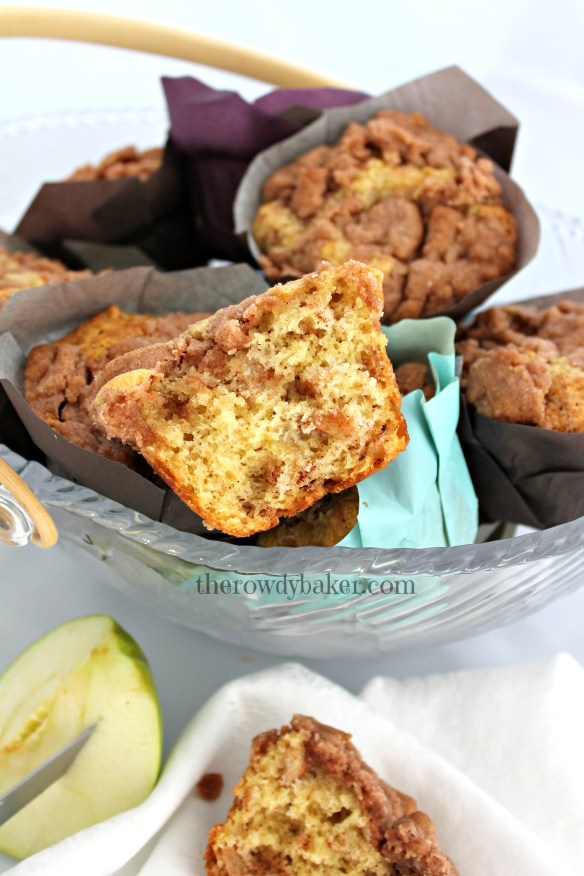 Sour Cream Apple Muffins - From The Rowdy Baker