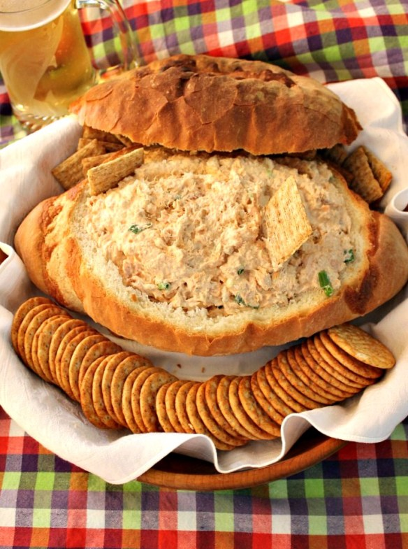 salmon dip bowl from The Rowdy Baker