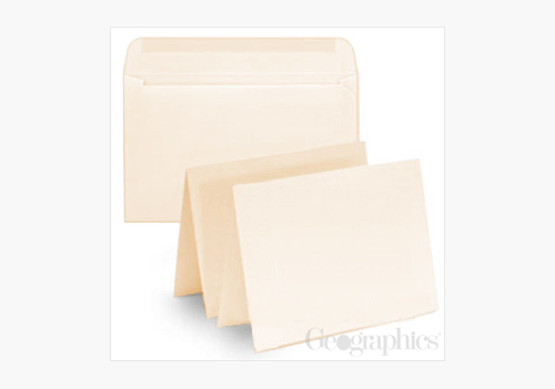 Ivory Greeting Cards Envelopes Geographics