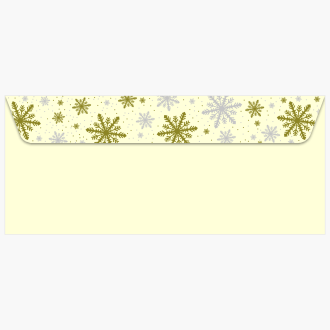 Silver and Gold Frost Ivory Christmas Foil Envelopes 48530