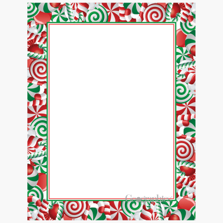 Candy Cane Letterhead Geographics 48512