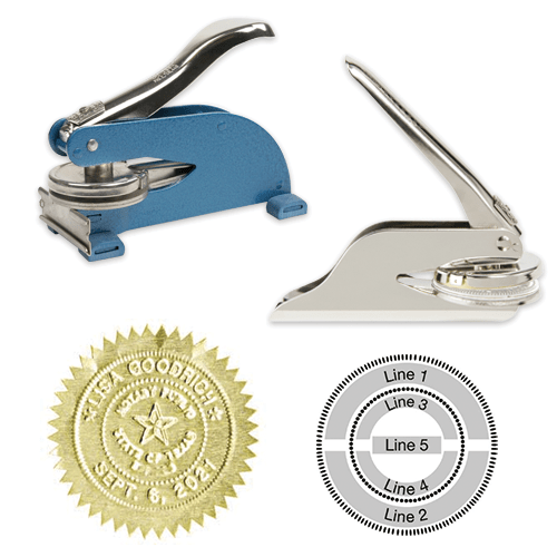 Embossers and blind stamping foil seals-Theroyalstore