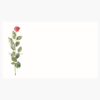 """Rose Business Cards, 2""""x3.5"""" Print on Demand"""