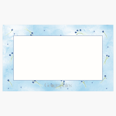 """Forget Me Not Business Cards, 2""""x3.5"""" Print on Demand"""