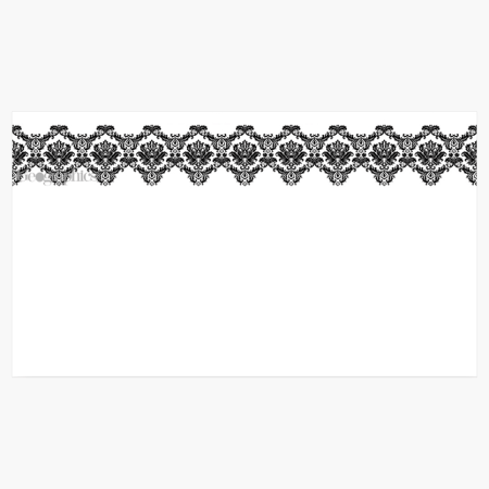 """Black & White Damask Business Cards, 2""""x3.5"""" Print on Demand"""