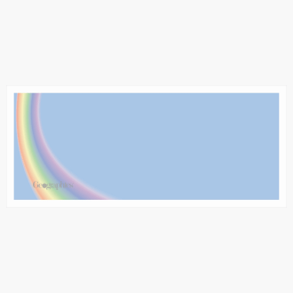"Rainbow Wedding Envelopes No.10 (4.12""x9.5"") Print on Demand"