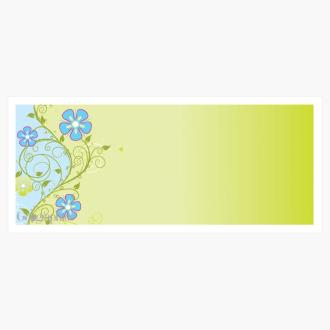 "Blue & Green Frolic Envelopes No.10 (4.12""x9.5"") Print on Demand"