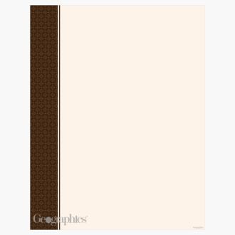 "Cappuccino Letterhead, 8.5""x11"" Print On Demand"