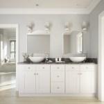 Brilliant White Shaker Ready To Assemble Bathroom Vanities