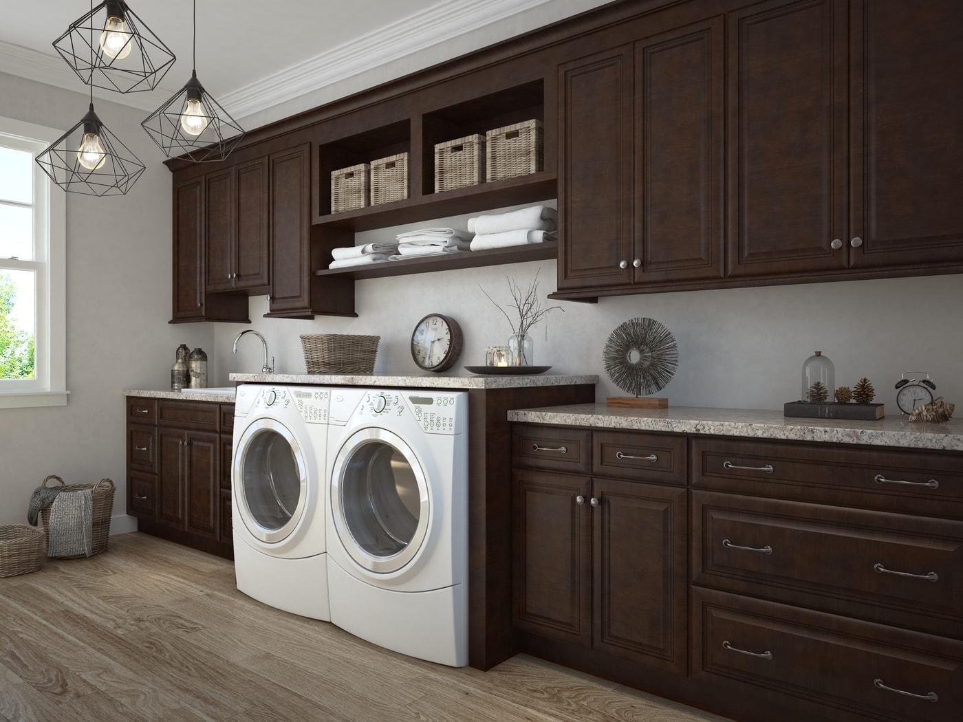 Regency Espresso RTA Laundry Room Cabinets - The RTA Store on Laundry Room Cabinets  id=12694