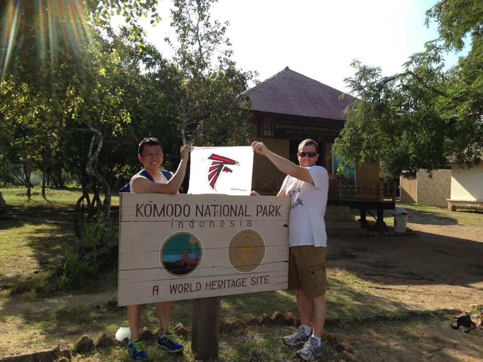 We root for the Atlanta Falcons. Even in Indonesia!