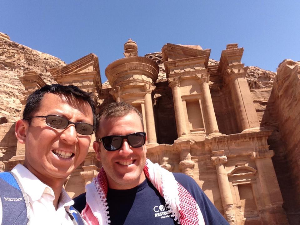 Michael & Halef in Petra, Jordan