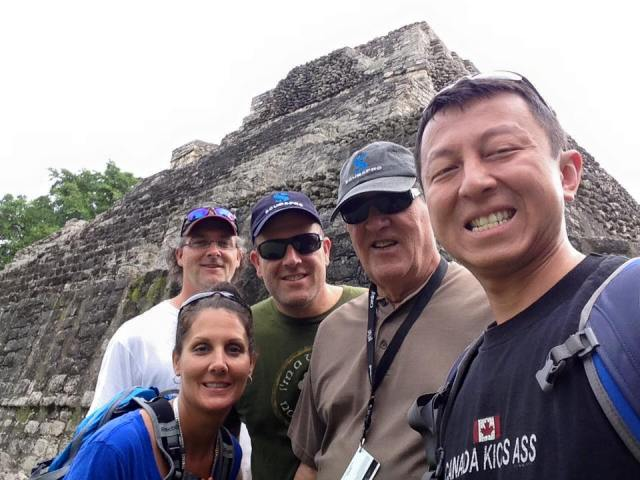Traveling with aging parents: Chacchoben Ruins, Mexico