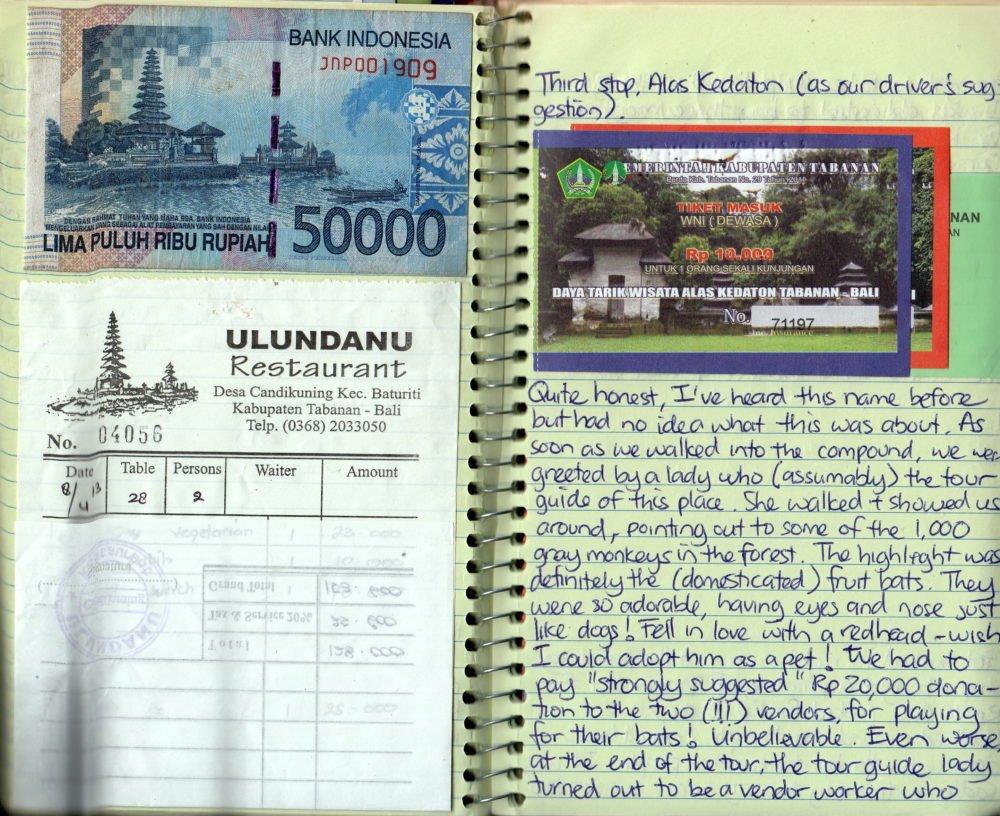 Travel journal - Indonesian Money