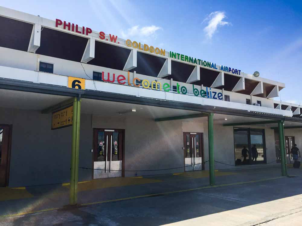 Philip S.W. Goldson International Airport. Always in rainbow colors!