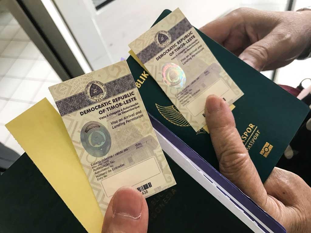 East Timor tourism visa on arrival sticker